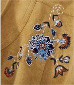Vyšívaná semišová bunda Sandy