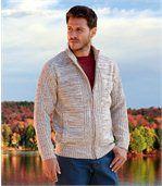 Pletený svetr sfleecovou podšívkou preview1