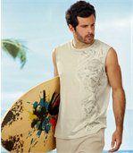 Set van 2 mouwloze T-shirts in Polynesische stijl