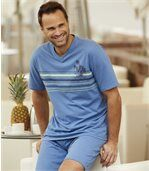 Men's Blue Palm Beach Short Pyjamas preview1