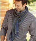 Men's Blue Scarf - Striped preview2