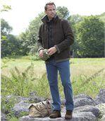 Modré strečové džíny střihu Regular preview2
