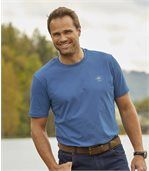 Pack of 4 Men's Mountain Passion T-Shirts - Navy Orange Blue Ecru
