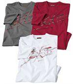 Set van 3 sportieve T-shirts preview1