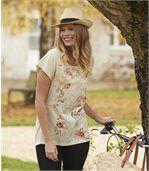 T-shirt met bloemenprint preview1