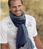 Men's Spring Blue Scarf
