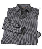 Popelínová vrúbkovaná košeľa preview2