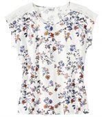Tee-Shirt Imprimé Floral et Macramé preview2