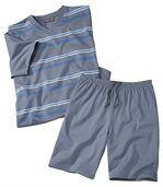 Men's Blue Summer Short Pyjama Set preview1