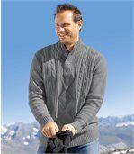 Sweter z wysokim kołnierzem na guziki Rocheuses preview1