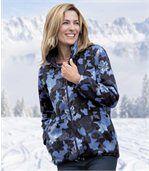 Fleecová bunda s listovým vzorem preview1