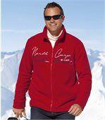 Men's Red Zip Up Jacket - Fleece - North Corp preview1