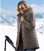 Women's Long Padded Winter Parka Coat preview1