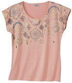 Letní tričko světle korálové barvy