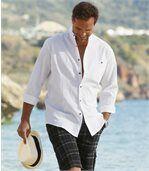 Biela krepová košeľa preview1