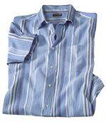 Krepová košeľa v azúrových farbách preview2