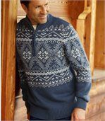 Pletený svetr vnorském stylu