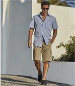Men's Beige Casual Cargo Shorts