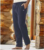 Men's Blue Polar Fleece Joggers
