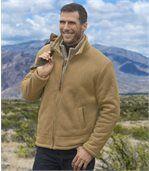 Kurtka ze sztucznego zamszu podszyta kożuszkiem sherpa preview1