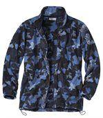 Fleecová bunda s listovým vzorem preview2