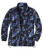 Women's Fleece Jacket - Leaf Motif preview2