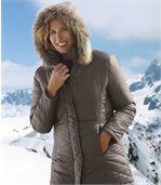 Women's Long Padded Winter Parka Coat preview2