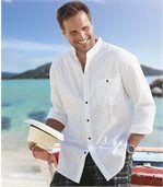 Men's White Shirt with a Mandarin Collar preview1
