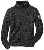 Men's Grey Roll-Neck Knitted Jumper preview2
