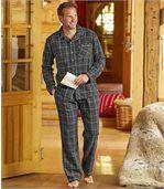 Kockované flanelové pyžamo
