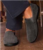 Pantoffels van velours en fleece preview1
