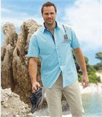 Men's Short Sleeve Turquoise Majorca Shirt preview2