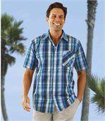Modře kostkovaná košile preview1