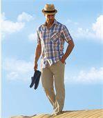 Wygodne spodnie w piaskowym kolorze preview3