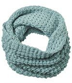 Women's Blue Tube Scarf -Knitted preview2