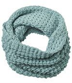 Women's Blue Tube Scarf -Knitted