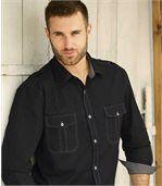 Men's Black Poplin Shirt preview2