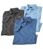 Zestaw 3 koszulek polo w jednolitych kolorach preview1