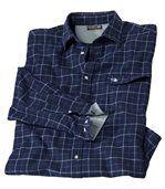 Flanelová modrá kockovaná košeľa