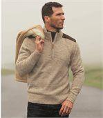 Pullover mit RV-Stehkragen preview1