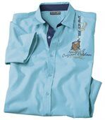 Men's Short Sleeve Turquoise Majorca Shirt preview1