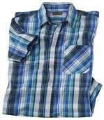 Modře kostkovaná košile preview2