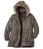 Women's Long Padded Winter Parka Coat preview4