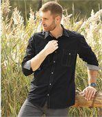 Men's Black Poplin Shirt preview3
