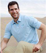 Zestaw 3 koszulek polo w jednolitych kolorach preview2