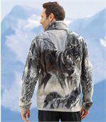 Polarowa bluza z motywem wilka preview1