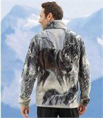 Veste Polaire Motif Loup preview1