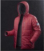 Men's Snow Time Red Padded Jacket preview2