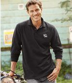 Pack of 2 Men's Polo Shirts - Black Grey