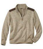 Pullover mit RV-Stehkragen preview2